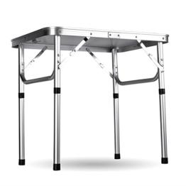 Ancheer Klapptisch Campingtisch Gartentisch,Höhenverstellbar Tragbare Outdoor-Camping-Tisch aus Aluminium,60x45x26-56cm -