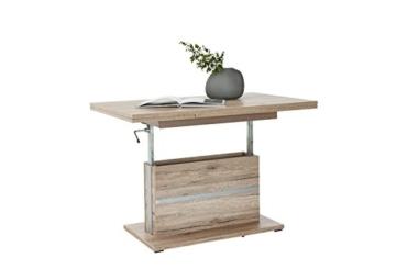 Couchtisch Wohnzimmertisch Tisch THOMAS höhenverstellbar ausziehbar Eiche neu -