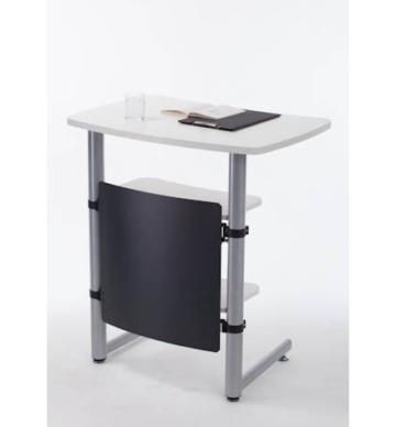 Creaform rollbares Rednerpult / Stehpult, höhenverstellbar, weiß -