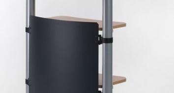 Creaform Rollbares Rednerpult Stehpult Höhenverstellbar Weiß