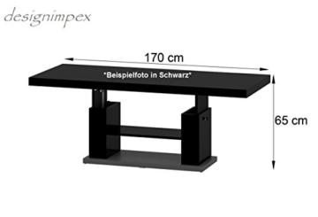 Design Couchtisch HN-777 Cappuccino - Nussbaum Hochglanz höhenverstellbar ausziehbar -