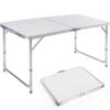 DXP Campingtisch aus Aluminium Gartentisch Höhenverstellbarer Klapptisch Koffertisch 120 x 60 cm praktisches Kofferformat AFT-02 -