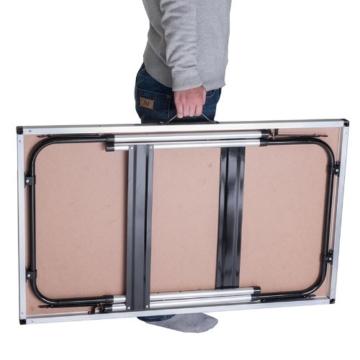 DXP Campingtisch Klapptisch höhenverstellbar Tisch 100x60x(73-94)cm Tapeziertisch Falttisch MDF Tischplatte EWT-01 -
