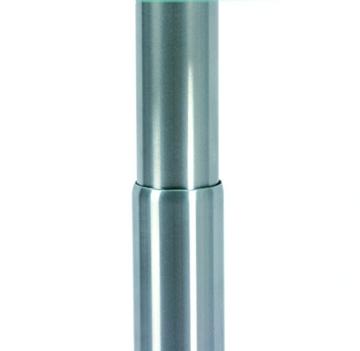 Ebinger Coutsch- und Beistelltisch in Edelstahl höhenverstellbar Ø 495 mm Klarer ESG-Sicherheitsglasplatte Tischhöhe max. 630 mm P740.35.0 -