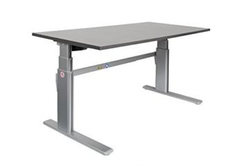 Ergonomischer Schreibtisch elektrisch höhenverstellbar | höhenverstellbarer Bürotisch Workstation Arbeitstisch Bürotisch Büromöbel (180 x 80 cm, Anthrazit) -