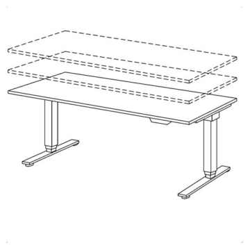 HAMMERBACHER Schreibtisch elektrisch höhenverstellbar | Bürotisch ohne störende Quertraverse | Büroschreibtisch in 4 Größen & 6 Dekoren (Weiß, Rechteck: 180x80 cm) -
