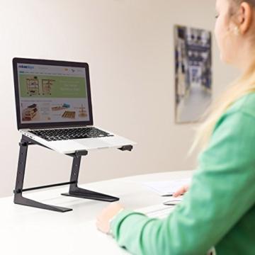 Relaxdays 10019337_46 Laptopständer höhenverstellbar Notebookständer mit gummierten Füßen, Haltern Höhe 5-fach verstellbar Laptophalter für Djs und Musiker Mixerständer, 34,5 x 26 x 32 cm -