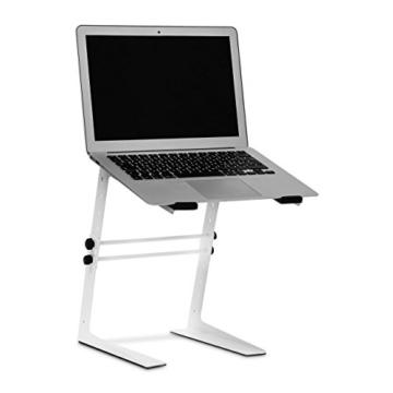 Relaxdays 10019337_49 Laptopständer höhenverstellbar Notebookständer mit gummierten Füßen, Haltern Höhe 5-fach verstellbar Laptophalter für Djs und Musiker Mixerständer, 34,5 x 26 x 32 cm -