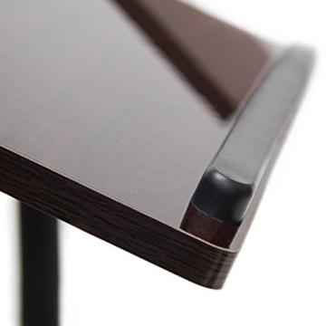 Relaxdays Laptoptisch höhenverstellbar H x B x T: 95 x 60 x 40,5 cm Sofatisch Beistelltisch mit Rollen samt Bremsen für Notebook mit Ablage für Maus hochglanz lackiert mit Antirutsch-Leiste, Ebenholz (schwarz) -