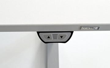 Schreibtisch 180 cm, elektrisch höhenverstellbar, Grau / Weiß - Heyne-Ergo-Aktiv -