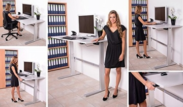 Schreibtisch elektrisch höhenverstellbar in Anthrazit Ergonomisch B 160 cm x T 80 cm Bürotisch Arbeitstisch Büroschreibtisch -