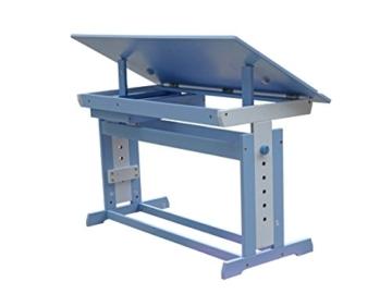 Schreibtisch Kinder Jugend Schreib Tisch höhenverstellbar und neigbar Blau/Weiß -