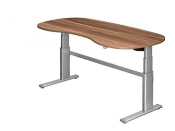 Steh-Sitz-Schreibtisch DR-Office XD - 200 x 100 cm - Elektrisch Höhenverstellbar - Büro-Tisch in 7 Farben - Farbe: Zwetschge -