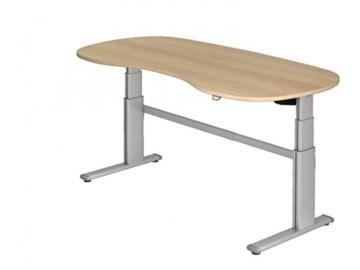 Steh-Sitz-Schreibtisch DR-Office XD – 200 x 100 cm – Elektrisch Höhenverstellbar – Büro-Tisch in 7 Farben – Farbe: Zwetschge -