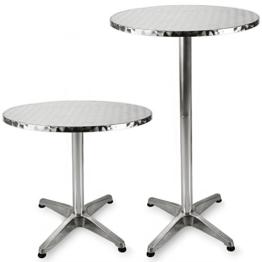 Stehtisch Bistrotisch aus Aluminium höhenverstellbar 70cm - 115cm, Ø 60cm -