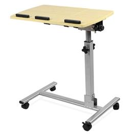 Yahee Laptoptisch Laptop Notebook Netbook Tisch auf Rollen verstellbar (59cm x 34.5cm) -