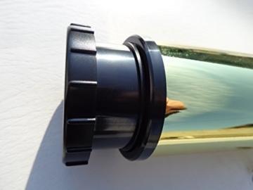 4er Set Couchtisch-Beine Tischbeine Tischfüße Ø 60mm/ H 450 mm, Höhenverstellbar -