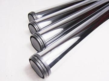 4x GedoTec® Chrom Tischbein Tischfuss Möbelfuß Verstellfuß Stahl | Höhe 710 mm | +30 mm höhenverstellbar | Ø 60 mm | inkl. Befestigungsmaterial -