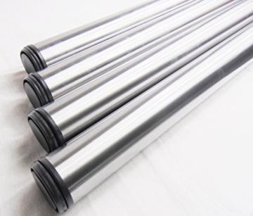 4x GedoTec® Edelstahl Tischbeine Tischfüße Möbelfüße Verstellfüße Stahl | Höhe 710 mm | +30 mm höhenverstellbar | Ø 60 mm | inkl. Befestigungsmaterial | Markenqualität für Ihren Wohnbereich -