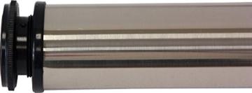 IB-Style - 4er Set Tischbeine RUND | 6 Längen | 3 Farben | Ø 60 mm | Höhenverstellbar | Befestigungsplatte abschraubbar | Inkl. Befestitungsschrauben | Tischbein Möbelfuss Tischfuss Möbel Fuss Unterstellfuss | Länge 400 mm CHROM poliert -