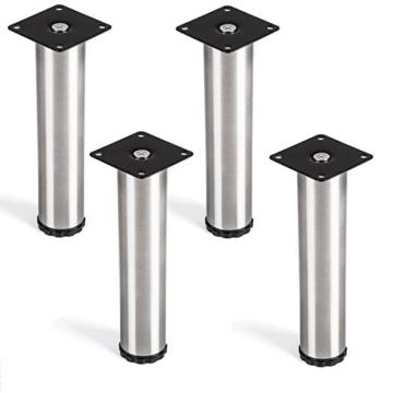 SO-TECH® 4er Set Lukas Möbelfuß Ø 42 mm höhenverstellbare Tischfüße Edelstahl Höhe 200 mm -