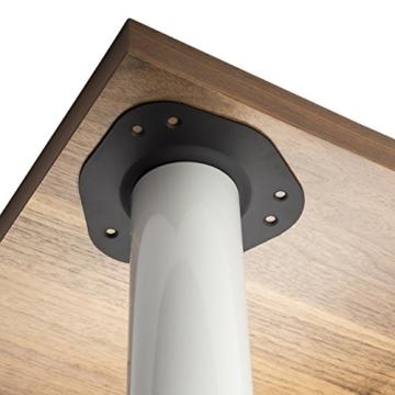 SO-TECH® Tischbeine Schreibtischbeine Möbelbeine Tischfüße Stahl weiß | Höhe 1100 mm | höhenverstellbar | Durchmesser 60 mm | 75kg Tragkraft | Metall-Anschraubplatte -