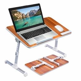 Avantree Neetto GROßFORMAT Tragbarer Betttablett, Höhenverstellbar Laptop Betttisch Tablett Bett Fruehstueck Notebook Tisch Stehpult, Klappbar Laptoptisch Fuer Sofa - 1