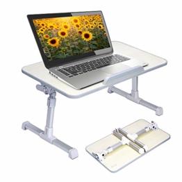 Avantree Neetto Tragbarer Betttablett, Höhenverstellbar Laptop Betttisch Tablett Bett Fruehstueck Notebook Tisch Stehpult, Klappbar Laptoptisch Fuer Sofa - 1