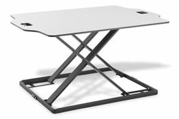 DIGITUS Kompakter Steh/Sitz Schreibtisch-Aufsatz - Ergonomischer Notebook-Arbeitsplatz 79 x 54 cm - Höhe von 2.6 - 40 cm - 1