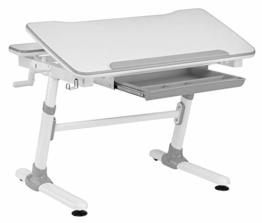 Ergodesk SMART Optima Kinderschreibtisch höhenverstellbar Schülerschreibtisch Kindermöbel Schreibtisch Kinder grau - 1