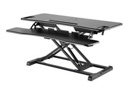 Exeta Höhenverstellbarer Steh-Sitz Tischaufsatz Schreibtisch. (Model 2020) Höhenverstellbarer Schreibtisch // in schwarz - 1