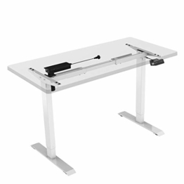 Flexispot E1W Höhenverstellbarer Schreibtisch Elektrisch höhenverstellbares Tischgestell 2-Fach-Teleskop, mit Memory-Steuerung (Weiss) - 1