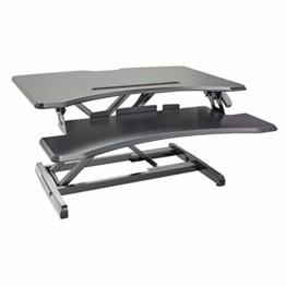 HFTEK Sitz-Steh-Desktop-Schreibtisch Arbeitsplatz Sit & Stand Laptop Mount Workstation (FY33SD) - 1