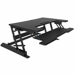 HFTEK® Sitz-Steh Schreibtisch Arbeitsplatz Sit & Stand Desktop Laptop Workstation höhenverstellbar (FY02A3) - 1