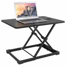 Homfa Sitz-Steh-Schreibtischaufsatz Sit-Stand Workstation Desktop Steharbeitsplatz höhenverstellbar 65x47cm - 1