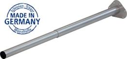 IB-Style - Einzel- Teleskop-Tischbein | ohne Befestigungsschrauben | 6 Variationen | Höhenverstellbar | Ø 50 mm, Form: Rund | Silbermatt | 60-90 cm - 1