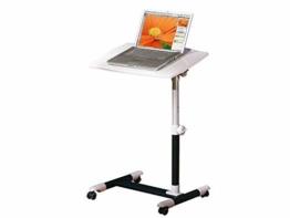 Inter Link Laptoptisch Tischständer Laptopständer Notebook Stehtisch Projektionstisch Tisch MDF Weiss Schwarz BxHxT: 60 x 60-88 x 40cm - 1