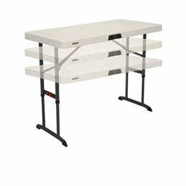 Lebenslange Vierfußgehstütze (122x 61cm) zusammenklappbar, rechteckige Tisch mit verstellbarer Höhe - 1