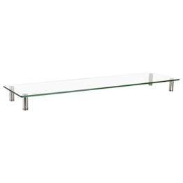 LogiLink BP0060 TV-Monitorerhöhung /-Tisch aus Glas (Dicke: 8mm), bis Belastung 20kg, höhenverstellbar Durchsichtig - 1