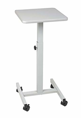 Maul 9331082 Beamertisch, OHP-Tisch 38 x 38 cm, Tragkraft 20 Kg, Höhenverstellbar, Lichtgrau, 1 Stück - 1