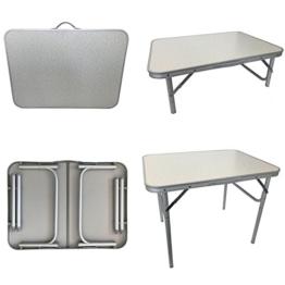 Megap Alu Campingtisch Gartentisch Balkontisch Beistelltisch Klapptisch Koffertisch Klappbar - Höhenverstellbar - 1