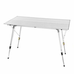 WOLTU Alu Campingtisch klappbar Falttisch mit Tragetasche, Aluminium Campingtisch Reisetisch für 4-6 Personen 120 * 68.5cm, Höhenverstellbar Klapptisch für Camping Garten Balkon - 1